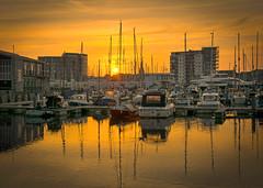 Sutton Harbour Sunrise (jamiegaquinn) Tags: sunrise plymouth suttonharbour sutton harbour boat boats yacht yachts
