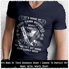 It's None Of Your Business What I Choose To Protect My Home With. White Print. Anvil Men's Printed V-Neck T-Shirt. Navy.  | Loyal Nine Apparel (LoyalNineApparel) Tags: 2a 2amendment 2ndamendment 3 556 9mm ar10 concealedcarry donttreadonme firearms freedom gun gunlife guns gunsdaily gunspictures instagood instaguns libertyordeath livefreeordie loyalnineapparel loyalnineclothes makeamericagreatagain menfashion mensfashion menstyle safetyfirst shallnotbeinfringed thegunlife weaponsdaily