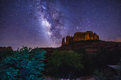 20170430-FS-Coconino-DLS-001 (Forest Service Photography) Tags: arizona cathedralrock coconinonationalforest forestservice milkyway pentaxk1 redrockrangerdistrict sedona usfs desert forest night nightsky outdoors redrocks panorama landscape landscapes stars astrophotography