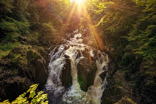 Sunshine over the Falls of Braan (Explored! Thanks for all Likes & Comments)
