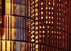 Skyscraper @ sunset (Marian Pollock) Tags: australia sydney nsw city skyscraper abstract architecture building windows lights reflections sunset geometric golden angles lines structure yellow buildings shapes