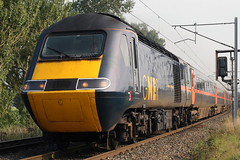 43099 'Diocese of Newcastle' + 43107 'Tayside' (Cumberland Patriot) Tags: gner great north eastern railways inter city 125 ic intercity125 ic125 intercity hst high speed train br british rail brel paxman valenta 12rp200l power car class 254 43 43099 diocese of newcastle 43107 tayside dieselelectric diesel motive traction unit wcml west coast main line caldew junction carlisle cumbria express passenger diversions diverted tyne valley railroad rails track tracks