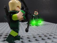 Oliver...Hal... (-Metarix-) Tags: lego minifig dc comics comic parallax green arrow hal jordan lantern custom emerald twilight universe pre flashpoint