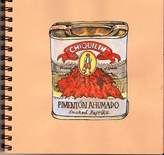 smoked paprika (tacoart) Tags: spices paprika food cooking watercolor pen stilllife sketchbook