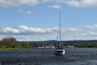 Yacht at Muirtown Basin, Inverness