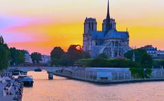 Río Sena y Notre Dame, Paris (eustoquio.molina) Tags: sena seine notre dame parís paris river hora dorada