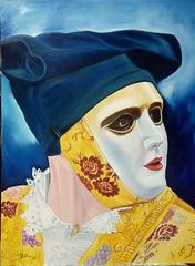 Sa Sartiglia. Cavaliere (cicipeis) Tags: sasartigliacavaliere cicipeisart oilpainting paintingofsardinia sardegnaart lasartigliaoristano