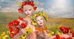 Poppies (Duchess Flux) Tags: collabor88 weloveroleplay thechapterfourbesom glamaffair catwa lode white~widow lelutka tram secondlife sl
