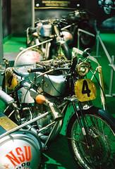 Vintage racing bikes with side-cars (mkk707) Tags: film leicam3 leitzsummicron50mmcollapsible kodakportra400 analog vintagelens vintagefilmcamera motorbike oldtimer technikmuseum sinsheim germancameras germany