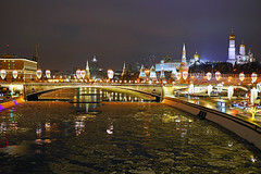 Moscow by night. Scenic view of the Kremlin & Moscow River (Andrey Sulitskiy) Tags: moscow russia москва россия