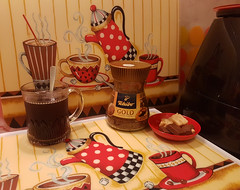 While I am having a cuppa.... (ShambLady) Tags: coffee cafe koffie tchibo instant black mug chocolate nougat placemats red rojo rouge café caffe kaffee kahve kaffe 咖啡 кафе قهوة kahvi caffè קפה kopi कॉफ़ी καφέσ kafe kávé ಕಾಫಿ kohv kawa caffé kava gold cuppa sweets candy jar glass corners house home mine my in malaysia
