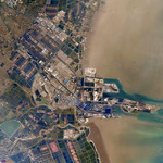 The harbour of Tianjin from ISS thumbnail