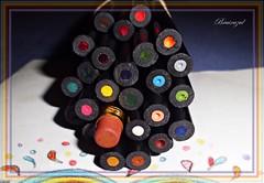 El intruso... (bruixazul poc a poc...) Tags: lapices goma borrador colores macro macromonday erasers