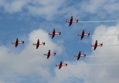 RIAT 2018 PC-7 Team display: 9 NCPC-7 Pilatus Turbotrainers of the Swiss Aerobatic Team (WlNGS) Tags: riat2018 pilatusncpc7 airport aeroport aeropuerto aeroporto avion plane aeroplane airplane aircraft raffairford ffd egva gloucestershire swissairforce