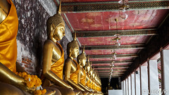 Peacefully (Lцdо\/іс) Tags: bangkok thailande thailand thailandia peaceful buddha bouddha boudhisme buddhisme travel water suthat temple thailandais voyage asia asian south east gold golden wat watsuthat