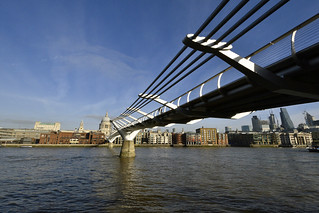 London Millennium Footbridge and St Paul's Cathedral  -  (Selected by GETTY IMAGES)