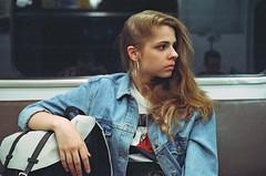Mary (ollazarev) Tags: leicam3 leica summicron portrait girl underground cinestill800 cinestill
