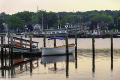 Mystic Magnetism (joegeraci364) Tags: boat calm cloud coast connecticut dock landscape mystic nature outdoors red reflection river scenic schooner season serene ship shore sky tall tree water travel tourism vacation destination
