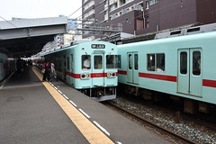 Nishitetsu 5531, Nishitetsu Hirao (Howard_Pulling) Tags: japan rail railway zug bahn train trains trainsinjapan japanese howardpulling photo picture gare