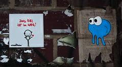 HH-Installations 2049 (cmdpirx) Tags: hamburg germany reclaim your city urban street art streetart artist kuenstler graffiti aerosol spray can paint piece painting drawing colour color farbe spraydose dose marker stift kreide chalk stencil schablone wall wand nikon d7100 installation install cement glue kleber klebstoff tile kachel styrodur styropor vinyl lp cd style guerilla knitting yawn bombing tape inst cutout yarn