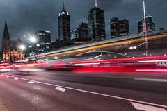 Speeding Lights (SemiXposed) Tags: melbourne cbd city tram long exposure