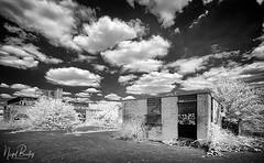 EALING 93 (Nigel Bewley) Tags: warrenfarm hanwell ealing london england uk londonist unlimitedphotos sky clouds july july2018 nigelbewley photologo canonef1635mmf28lusm canon5dmkii 830nm infrared digitalinfrared advancedcameraservices blackandwhite blackwhite creativephotography artphotography amateurphotographer appicoftheweek derelict abandoned disuse