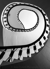 Ascent II (James Etchells) Tags: staircase spiral frome somerset heritage museum black white monochrome landscape portrait south west england britain uk abstract artistic art light dark creative urban architecture building structure shapes shape leading line