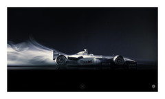 Speed Rush (picturedevon.co.uk) Tags: f1 formulaone mclarenf1 mercedesbenz motorsport racecar dc black red le smoke macro speed fast abscract motion air windtunnel studio canon wwwpicturedevoncouk