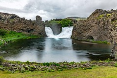 Hjalparfoss (Einar Schioth) Tags: hjalparfoss hjálparfoss fossá fossa water waterfall trees tree river rocks rock day sky summer shore sigma sigma2470 canon clouds cloud coast cliff canyon nationalgeographic ngc nature landscape l photo picture outdoor iceland ísland einarschioth