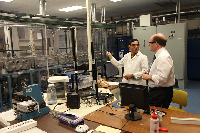Tour of University of Delaware's Institute for Energy Conversion - January 2013