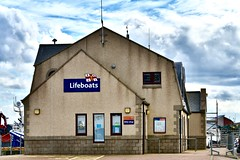 Fraserburgh Lifeboat Station - Scotland - 19/4/2018 (DanoAberdeen) Tags: lifeboatstation architecture building fraserburgh danoaberdeen nikond750 nikkor fish fishing fisherman seafarers trawlers tug tugboat scotland autumn summer winter spring clouds bluesky salmon haddock cod scallops candid amateur northeastscotland maritime northsea aberdeenshire grampian metal rnli lifeboat harbour trawler trawlermen winte 2018 trout mackrel fishingboat nikon aberdeen shipspotting fishauction bonnyscotland fishtown fishingvillage thebroch broch fraserburghscotland dock boat ship vessel