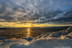 Lake Simcoe -  frozen sunset (digithief) Tags: d750 nikon clouds ice sunset willowbeach ontario canada ca