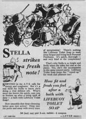 Lifebuoy Toilet Soap (OldAdMan) Tags: soap bar lifebuoytoiletsoap ats leverbros coupon wartime secondworldwar oldadman old vintage advertisements adverts posters