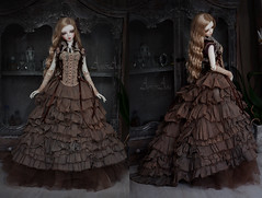 Tattered Beauty (AyuAna) Tags: bjd ball jointed doll dollfie ayuana design minidesign handmade ooak clothing clothes dress set outfit gown robe vetement fantasy steampunk style sd sd13 sd10 feeple60 fairyland fashion couture sewing sewingfordolls sadol love60 yena whiteskin
