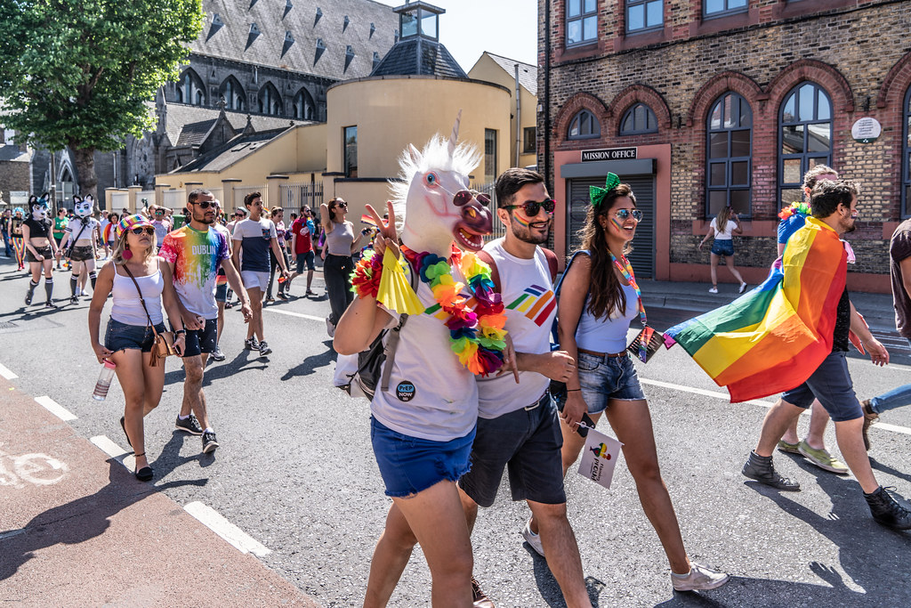 ABOUT SIXTY THOUSAND TOOK PART IN THE DUBLIN LGBTI+ PARADE TODAY[ SATURDAY 30 JUNE 2018] X-100225