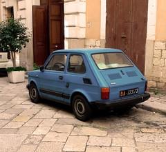 Back (PaulaCamara) Tags: bari italy italia vintage europe europa blue contrast steet street calle photography photo fotografía foto rame ramephotography