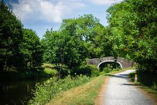Bridge No. 47 on the Leeds Liverpool Canal , Foulridge , Lancashire - July 2018