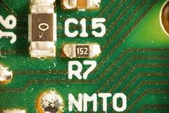 on board (Elisabeth patchwork) Tags: macromondays insideelectronics electronics circuitboard 20180709 macro sigma sigmasdquattro sigma105mm retro reversemount