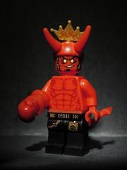 Anung Un Rama (LegoKlyph) Tags: lego custom brick block build hellboy hell demon bprd comicbook comic book red right hand horns monster ww2 fire