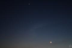 Venus-Jupiter-Moon @ 34 mm / 2012-03-24 (astrofreak81) Tags: venus moon jupiter luna mond stars sky dresden