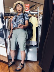 iphone photo 1145: Summer-ending sale, but it's still in July. Akabane Tokyo, 17 Jul 2018 (megumi_manzaki) Tags: iphone mirror self portrait selfy summer shop