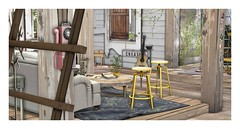 CREATE (Loegan Magic) Tags: secondlife sol room ladder window doors sign create stool carpet wood table floor phone guitar