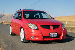 DSC_0752 (jaytotheveezy) Tags: pontiac vibe base lava red 1zz work crkai kiwami ultimate bcracing coilovers toyo tires genvibe