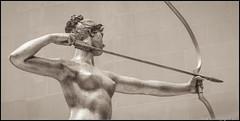 Diana in Sepia (RedMudPup) Tags: augustussaintgaudens diana sculpture statue themet