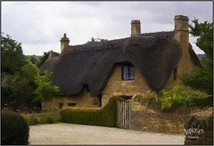Thatched cottage ... (Picture post.) Tags: art painting cottage thatch stone