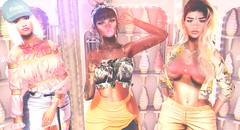 Summer Trinity (Aaisling | *La Jolie Rose* | Taking Clients) Tags: pumec doux letre dustbunny avenge osmia fashionablydead tetra villena foxy blueberry ison kibitz n21 summerfest stardust speakeasy slink treschic hive noticemesenpai kustom9 larahurley collabor88