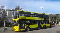 Wellington double deck electric bus (andrewsurgenor) Tags: transit transport publictransport bus wellington nz streetscenes buses omnibus yellow busse citytransport city urban newzealand electric