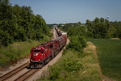 Sunday Stroll (Nick Brown Photography) Tags: train railroad railfanning locmotive emd sd60 photograph wisconsin