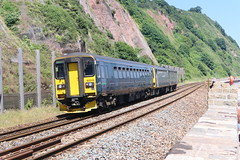 153_318-01 (Ian R. Simpson) Tags: 153318 class153 supersprinter dieselmultipleunit dmu train greatwesternrailway gwr firstgroup first 143611 class143 pacer teignmouth devon england
