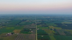 Into The Great Wide Open… (mediafury) Tags: floyd charlescity iowa corn field pattern grid vanishingpoint symmetry dusk sunset country river road rural farm horizon fade drone djiphantom4 fromwhereidrone